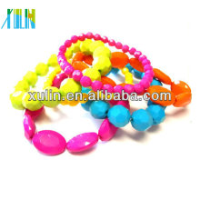 jewelry making acryilc beads bright fluorescence colour faceted bead