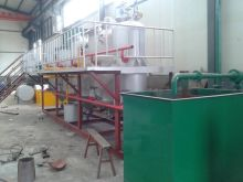 Small scale cooking oil refining line