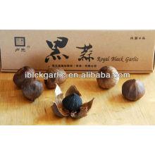 Органические, натуральные черные подарочные коробки с чесноком