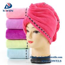 Großhandelsmikrofaser-Haar-trocknender Salon-Tuch-Haar-Turban