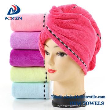 Gros microfibre cheveux séchage salon serviette cheveux Turban