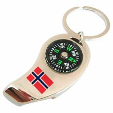 Bouteille personnalisée Bouteille porte-clés avec compas thermomètre (F5002)