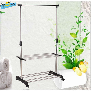 Outdoor Stand Drying Rack Garment Hanger with Shelf (Ys482)