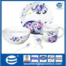 Conjunto de desayuno de porcelana para niños BC8099 nuevo regalo de nacimiento