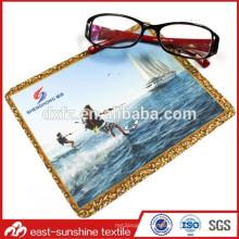 Tissu de nettoyage de lunettes de soleil Microfibre Bluk, Tissu imprimé couleur personnalisé pour lunettes