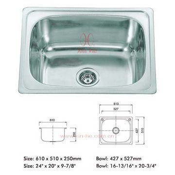 Edelstahl Topmounted Sink