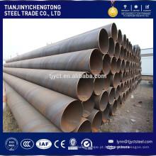 Baixo preço Q235 grande diâmetro de carbono em espiral tubos de aço soldados / tubo preços