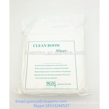 La sala blanca de poliéster de sala limpia de clase 1000 limpia LE / corte por láser 110g / m2