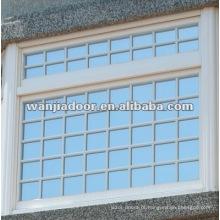Design de grelha decorativa de janela fixa