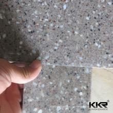 borde de ducha real de mármol cultivado de superficie sólida