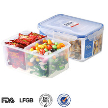 airtight pp divided storage box