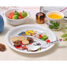 (BC-MK1018) Fashinable Design réutilisable Melamine 4PCS Kids Cute Dinner Set