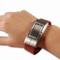 Braceletes trançados magnéticos personalizados da forma pulseira de aço