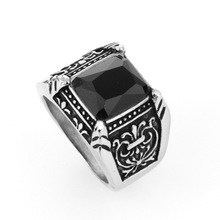 Black crystal printing jewelry ring
