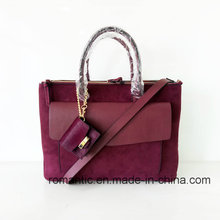 Fashion Designer Lady Suede PU Leather Briefcase (NMDK-051603)