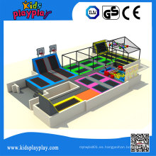 Kidsplayplay Bungee Round Jumping Bed Parque Trampolín Comercial