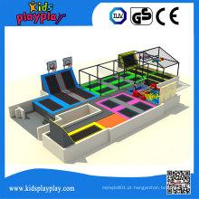 Parque comercial do trampolim da cama de salto redonda do tirante com mola de Kidsplayplay