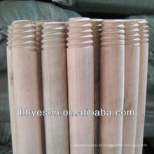 2.5 * 120cm madeira natural vassoura alça varas