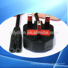 Britain England 3 pins plug AC power wire add 8 words in the shape of the tail plug/power cord cable with plug