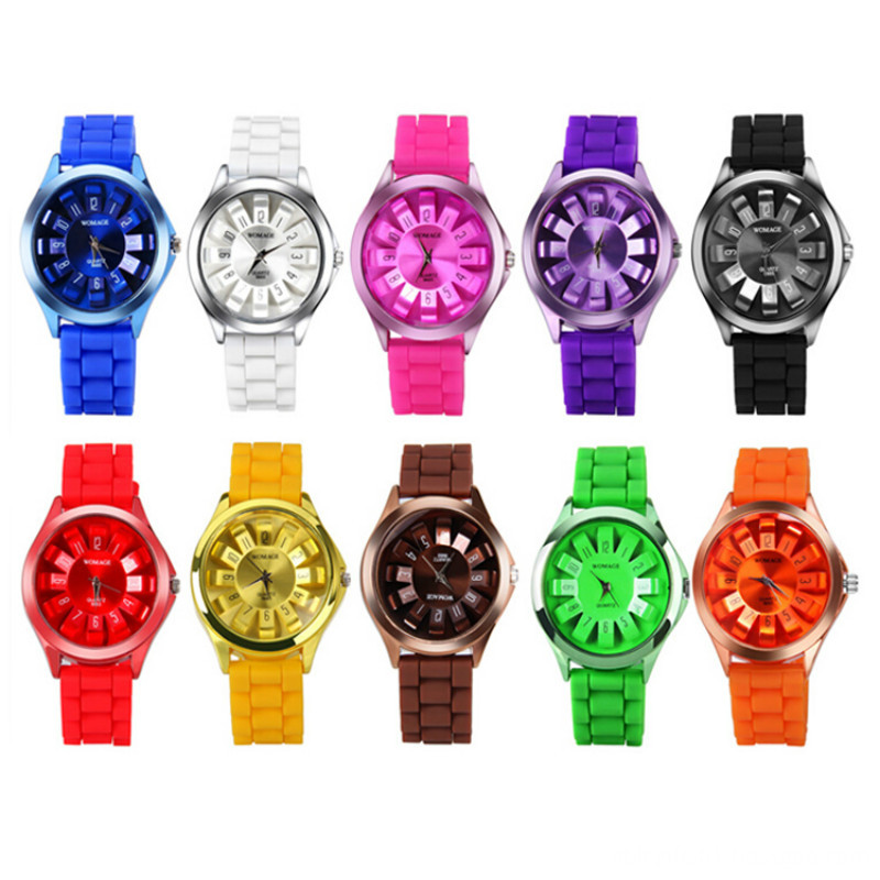 10 colors geneva watch
