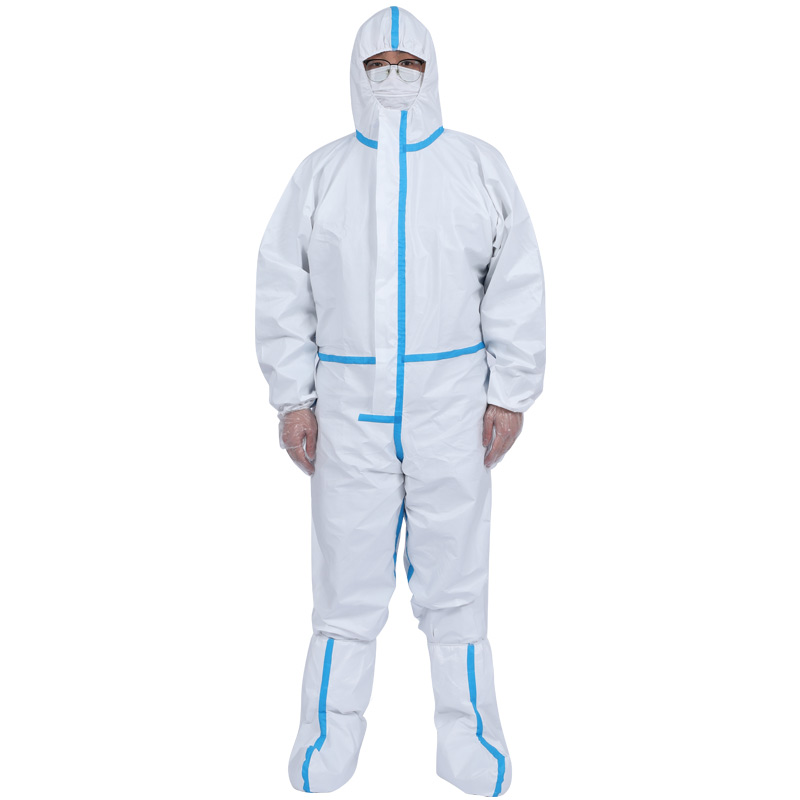 White Disposable Coverall Protective Suit