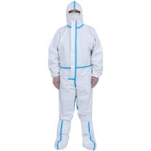 Vêtements de protection médicaux jetables blancs
