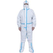 Белая одноразовая медицинская защитная одежда