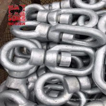 Heavy duty quick release double eye type b stainless steel marine Anchor chain swivel snap shackle