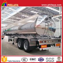 Doppelachsen-Luftfederungs-Kraftstofftank-Aluminiumlegierung-Tanker-Anhänger