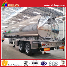 Double Axles Air Suspension Fuel Tank Aluminum Alloy Tanker Trailer