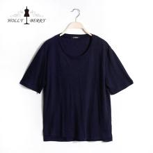 Casual Regular Short Sleeve Navy Casual T-shirts Women