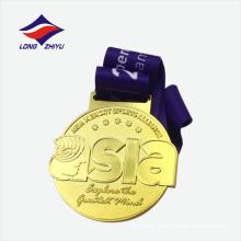 Logotipo de encargo Asia corriendo la medalla del metal del fósforo