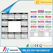 China Supplier High Quality design fridge magnetic calendar
