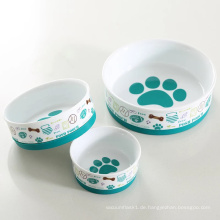 Ring Anti-Rutsch-Design Mode bedruckte Keramik Hundenapf