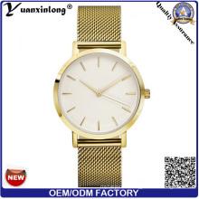 Yxl-095 New Style Hottest Mesh correa de acero reloj reloj de los hombres Custom Design OEM Gold plateado reloj de lujo fábrica al por mayor