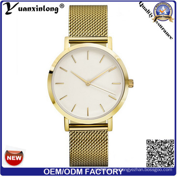 Yxl-095 новый стиль горячие сетки стальной ленты часы мужские часы OEM нестандартной конструкции позолоченный роскошные часы оптовой завод