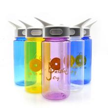 Garrafa de água do esporte de tritão de 600ml, garrafa de água de esporte de alegria de plástico, garrafa de água de tritan, joyshaker logo