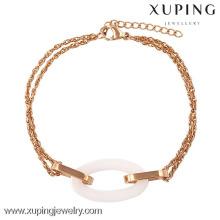 74231-xuping jewellery bracelets en acier inoxydable doré pour adolescents