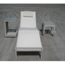 Lit de jardin aluminium mobilier Sun lit Antique Style osier