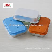 Conteneurs de nourriture en aluminium santé en aluminium, récipient à lunch d'aviation avec couvercle