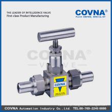 SS alta pressão Válvula de agulha / óleo de gás swagelok Válvula de agulha