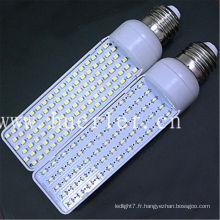 Haute luminosité E27 E26 B22 G24 5W 6W led pl