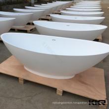 Modern Luxury Bathroom Big Size Color Art Solid Surface Freestanding Bathtub
