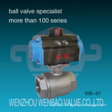 Pneumatic Actuated Two Piece BSPT AISI316 Ball Valve