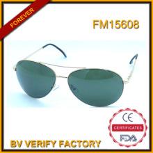 2016 FM15608 nuevo diseño alta calidad Metal gafas de sol