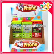 kids phone toys battery mobile phone toy with music and light