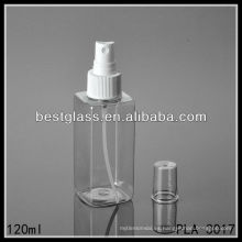 botella plástica, botella cuadrada, botella de la loción del ANIMAL DOMÉSTICO 120ml