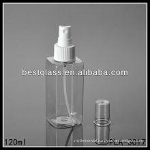 plastic bottle, square bottle, 120ml PET lotion bottle