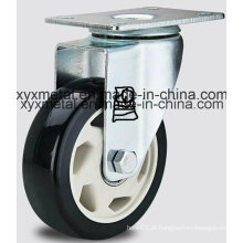 Meio direito duplo Beading PU Caster H-Technology PU Caster Heavy Roulette Rodas