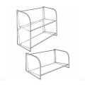 Design Organizer Acrylic Compact-Disc Shelves Display